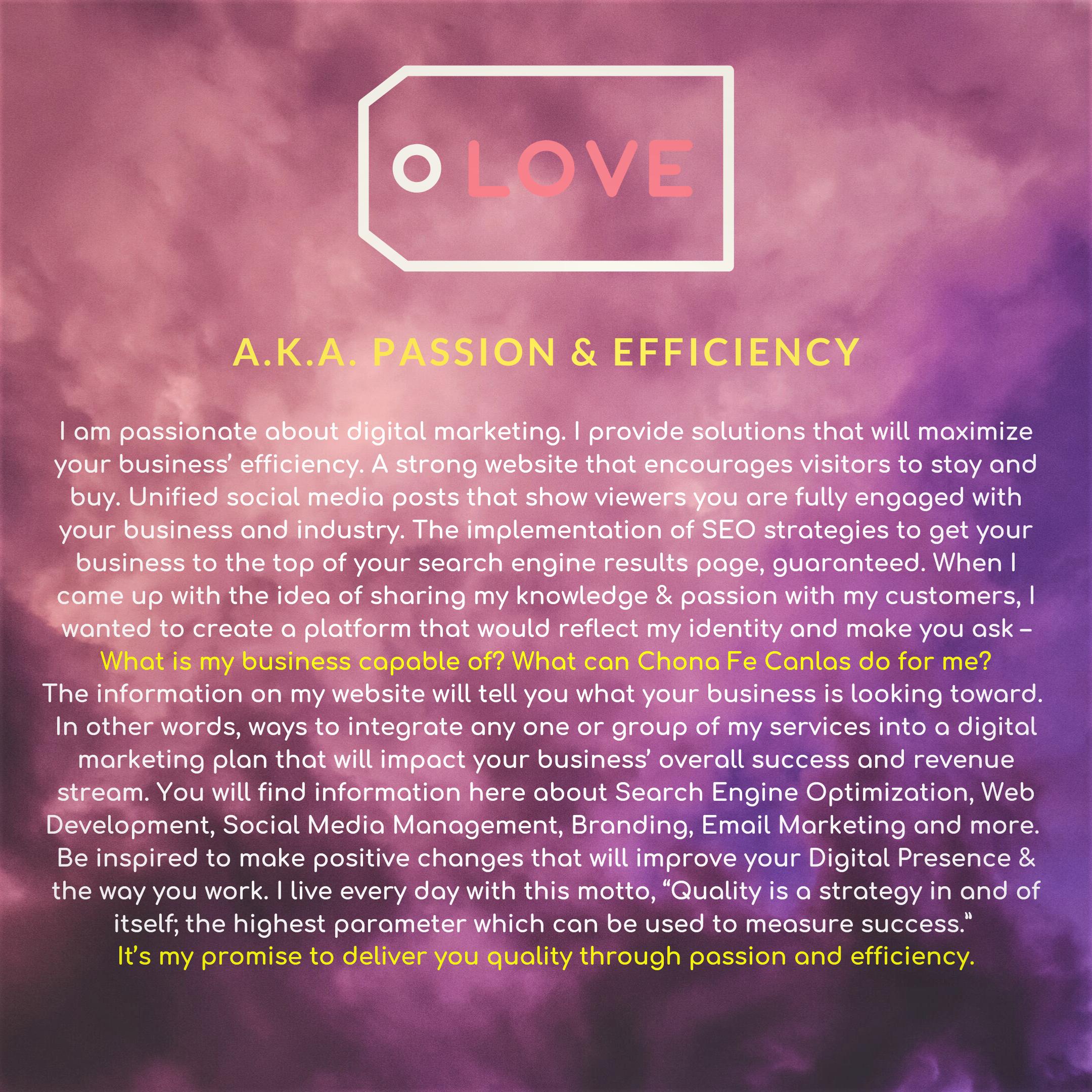 a.k.a. passion & efficiency (2)