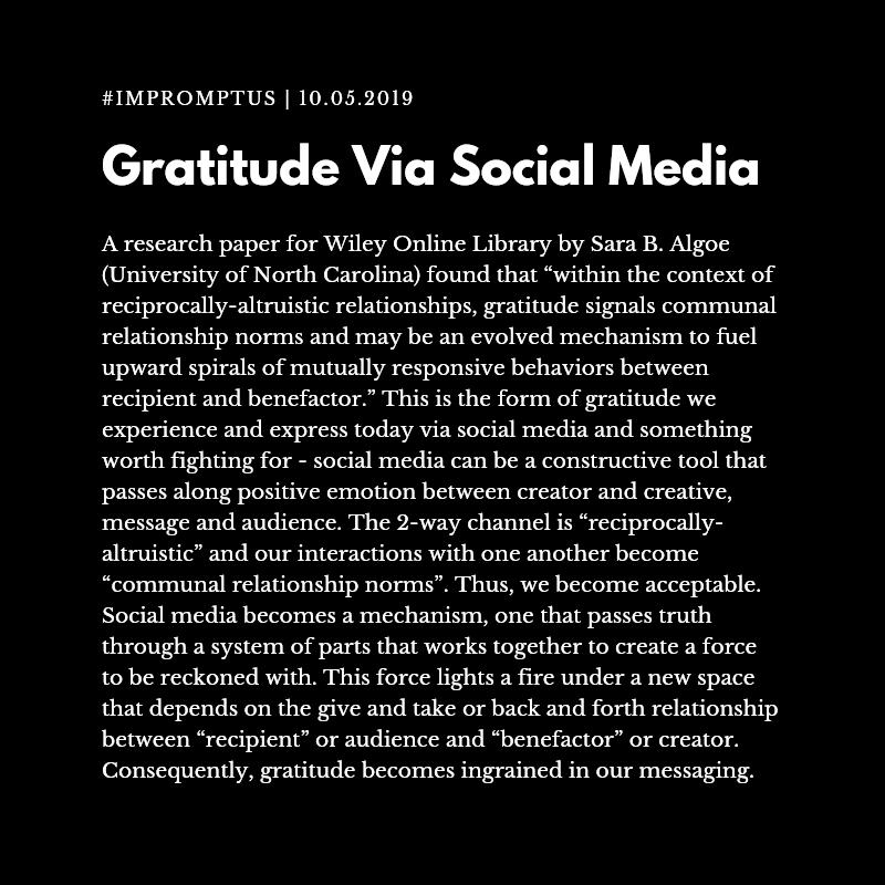 #impromptus graphic/template - gratitude via social media